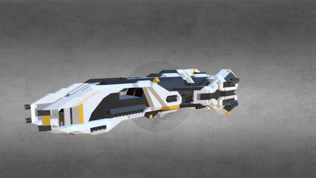 The Kaikohuru Large ship from Space Engineers 3D Model