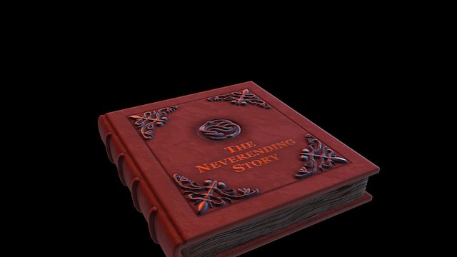 The Neverending Story Book 3D Model