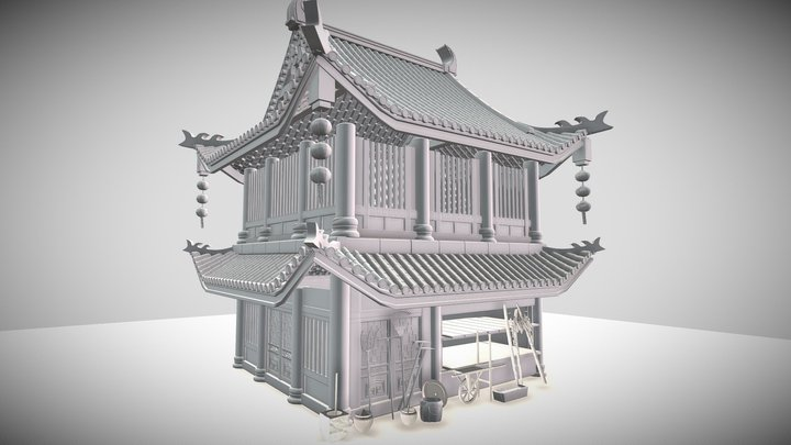 Old Rural of China 3D Model