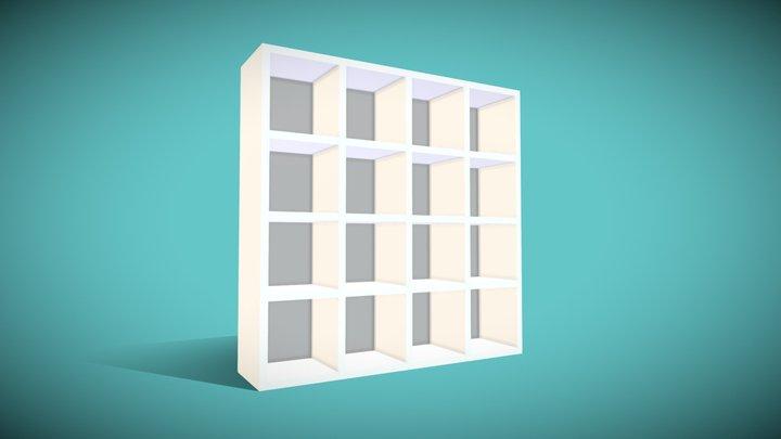 LP Furniture - Cube Shelf Sq 3D Model