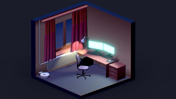 Gaming Room A 3d Model Collection By Ankitdayal99 Ankitdayal99 Sketchfab