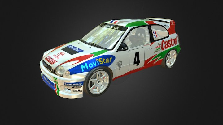 Toyota Corolla WRC (Low Poly) 3D Model