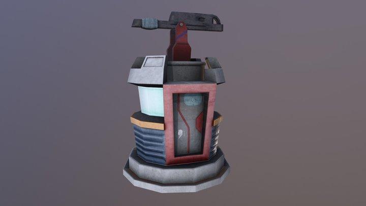 Turret Cartoon 3D Model