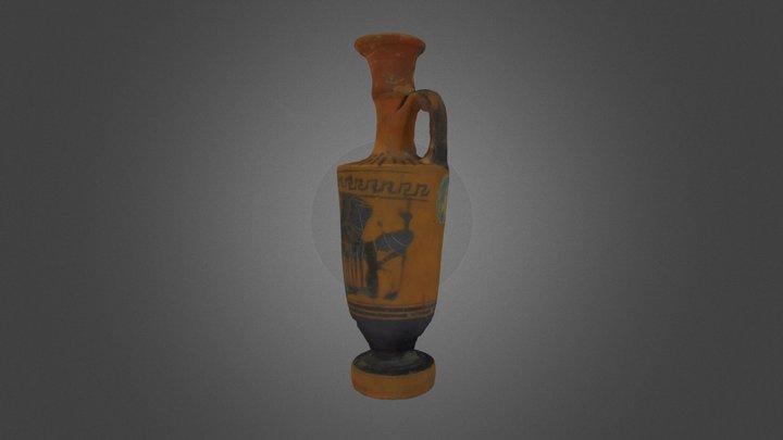 Black-Figure Lekythos 3D Model