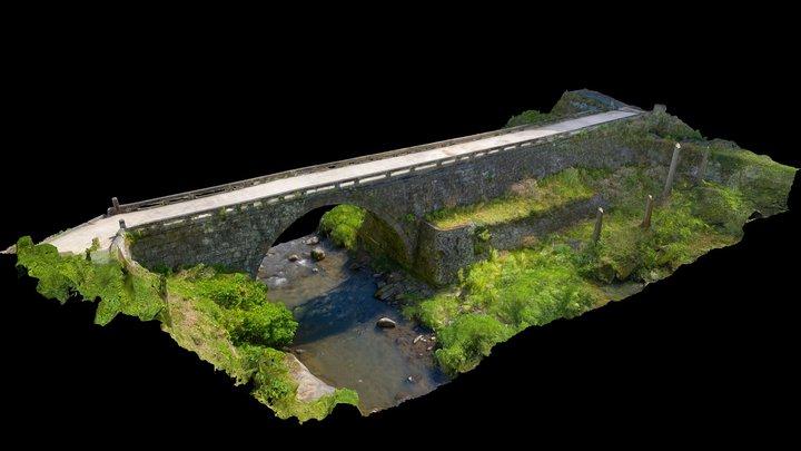 八瀬眼鏡橋(熊本県指定重要文化財) 3D Model