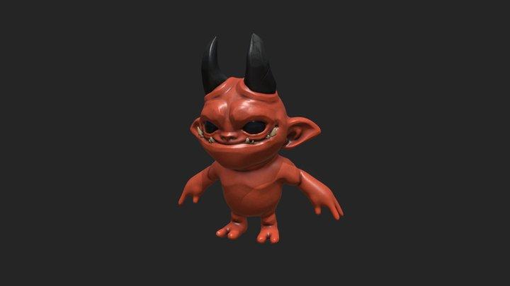 Concept . Stylized Character  - Lil' Devil 3D Model