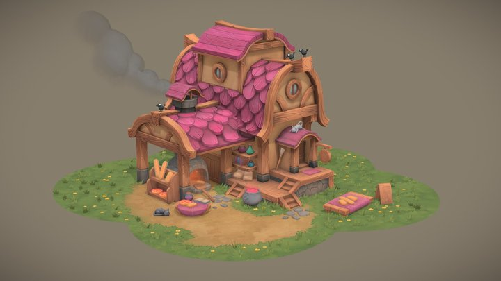 Madame Renee's Bewitched Bakes 3D Model