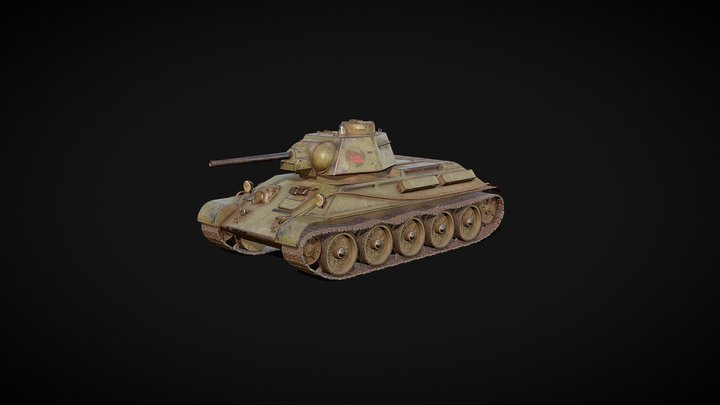 Советский средний танк Т-34 3D Model