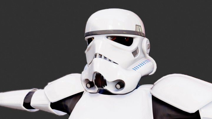 Star Wars - Stormtrooper (rigged) only 3D Model