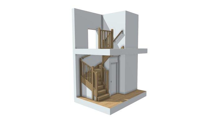 Burge wall rail design 3D Model