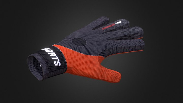 Goalkeeper Gloves 3D Model