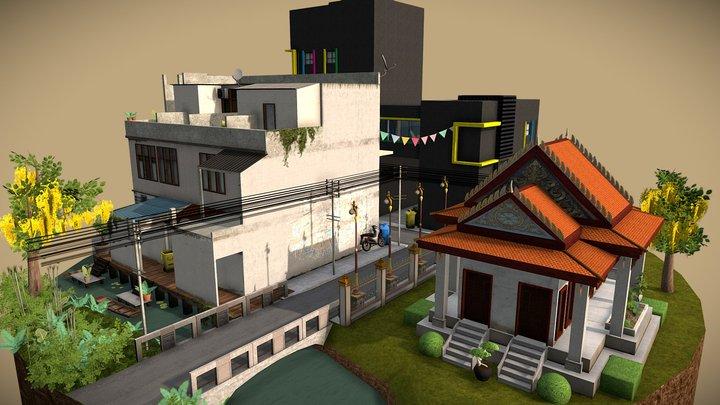 1DAE02_Debbaut_Jamel_CityScene 3D Model