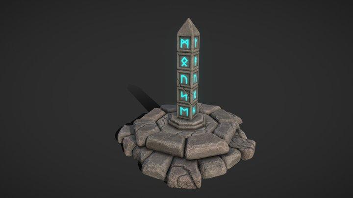 Ruins Game Environment 3D Model