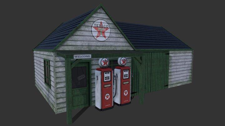 Petrol Garage 3D Model