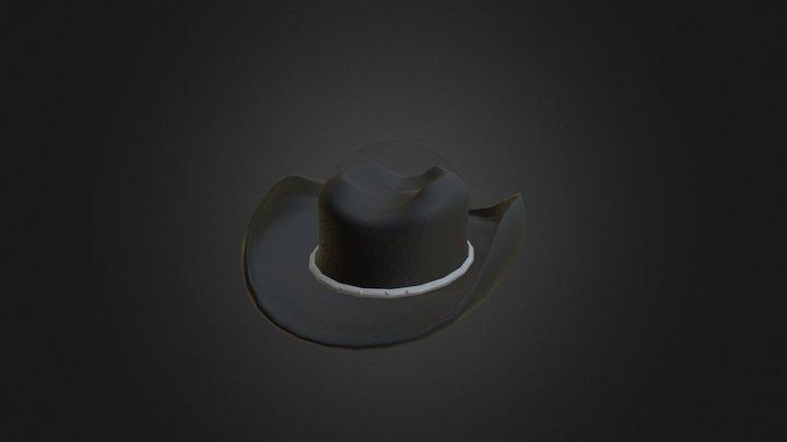 Old Western Cowboy Hat V2 - Colored 3D Model