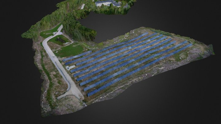 Solar Farm 3D Model