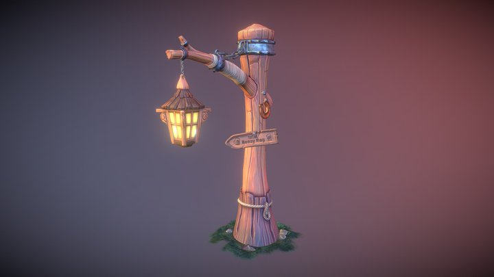 A Welcoming Sign 3D Model