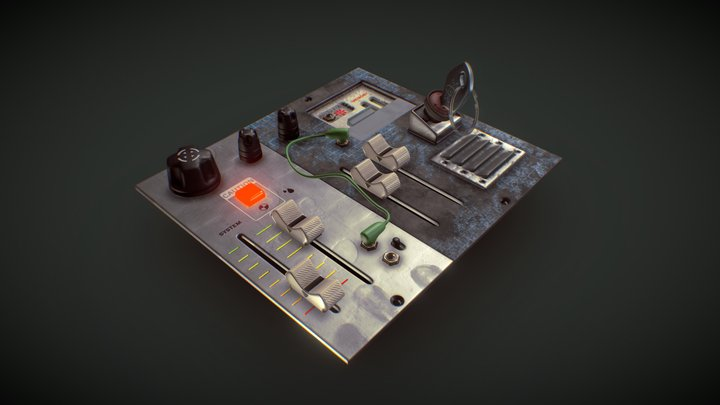 """""""some random control panel I found in the trash"""" 3D Model"""