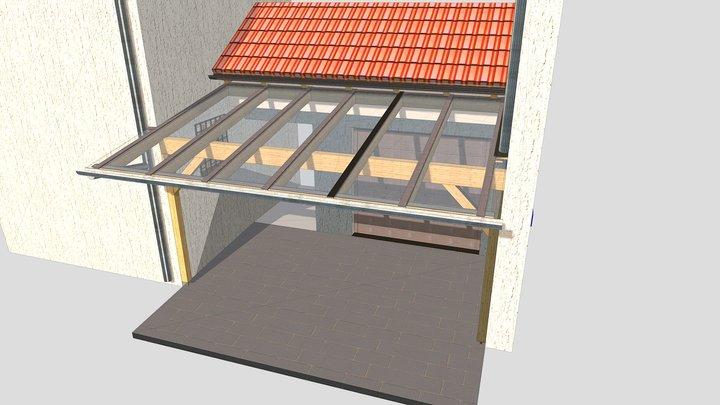Glasdach Traunreut 3D Model