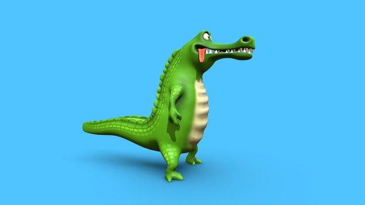 Krokodil 3D Model