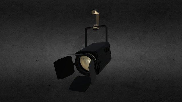 Stage Lights Barn Doors 3D Model