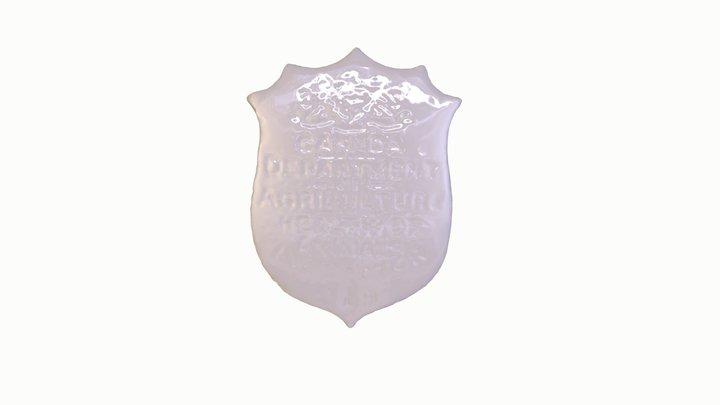 Inspector's Badge, Dept. of Agriculture 3D Model