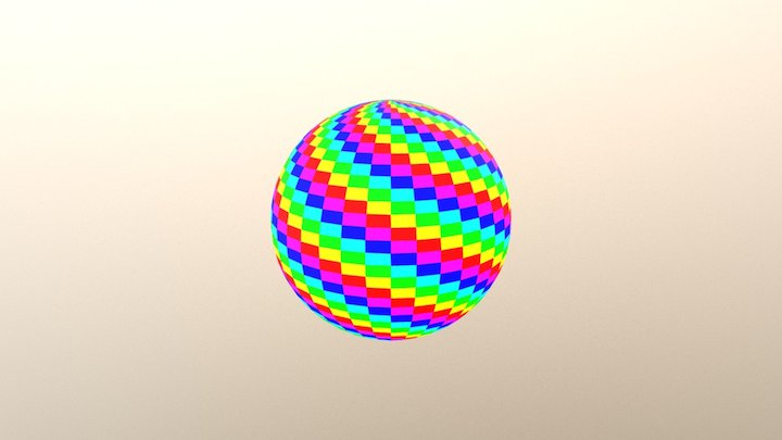UV Sphere 36x36-6-color-diagonal 3D Model