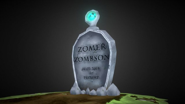 Zombie Grave 3D Model