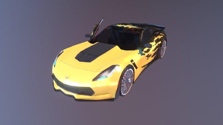 Low Poly Chevrolet Corvette Z06 3D Model