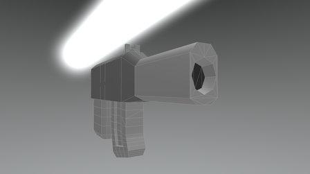 Low poly Mini-SMG 3D Model