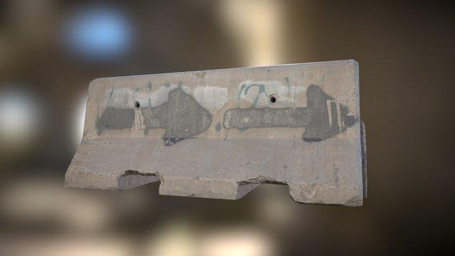 Concrete Barrier 01a 3D Model