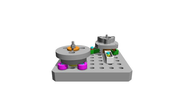 Montage socle de vérin PH300 et 400 3D Model