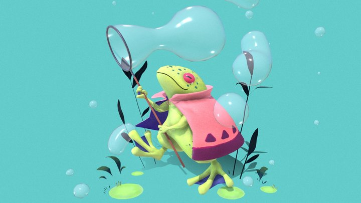 Frog bubble traveler 3D Model