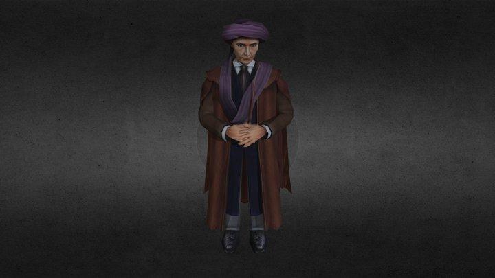 Quirinus Quirrell - Hogwarts 3D Model