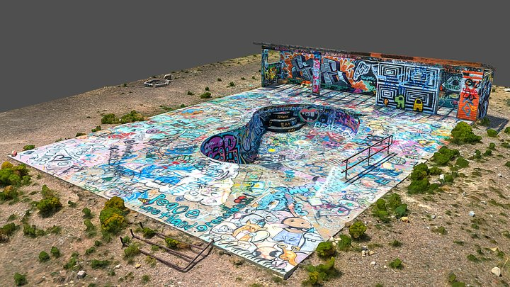 Graffiti Pool - Rt 66 3D Model