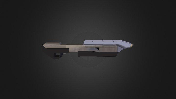 Halo_CE Assault Rifle MK2 3D Model