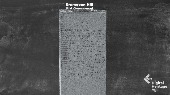 Drumgoon Hill - Old Graveyard Headstone 467 3D Model