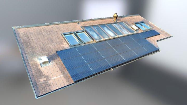 Solar panel inspection with Phantom4Pro 3D Model