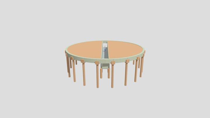 Base silo 60 x13 3D Model