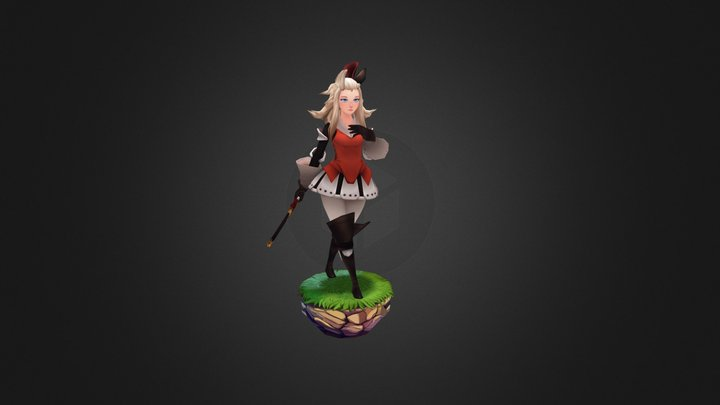 Edea Bravely Default 3D Model