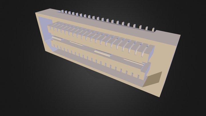 Samtec-QSE-020-01-F-D-A 3D Model