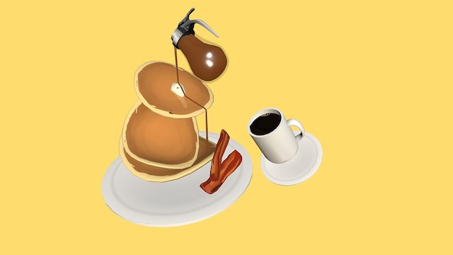 Unbalanced Breakfast 3D Model