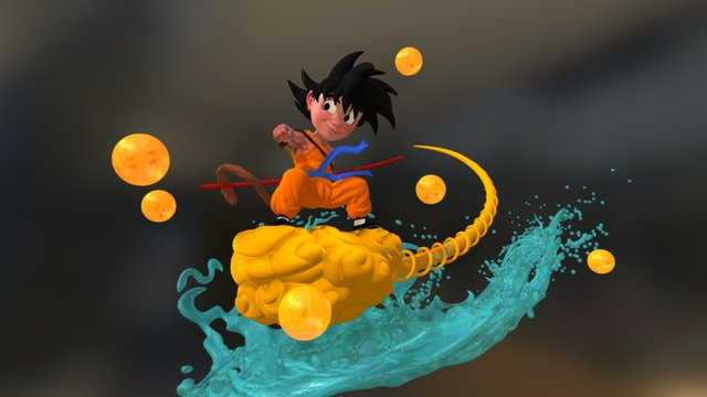 Young Goku 3D Model