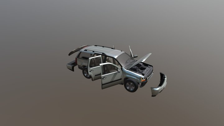 Real Car 2 Separated Parts 3D Model