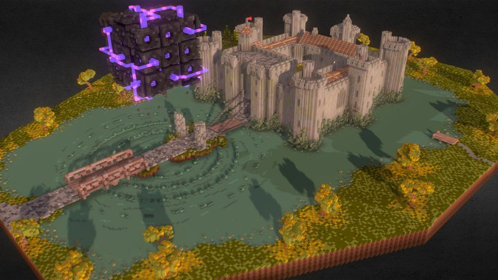 The USS and The Bodiam Castle. 3D Model
