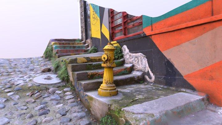 Colorful Graffiti Street 3D Model