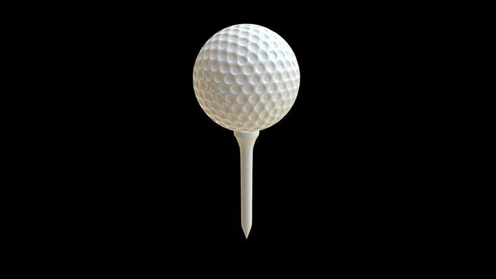Golf ball and Tee set 3D Model