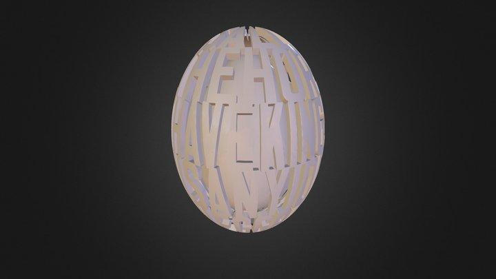 Elliott GrubElliott Grubb - 3D Egg 3D Model