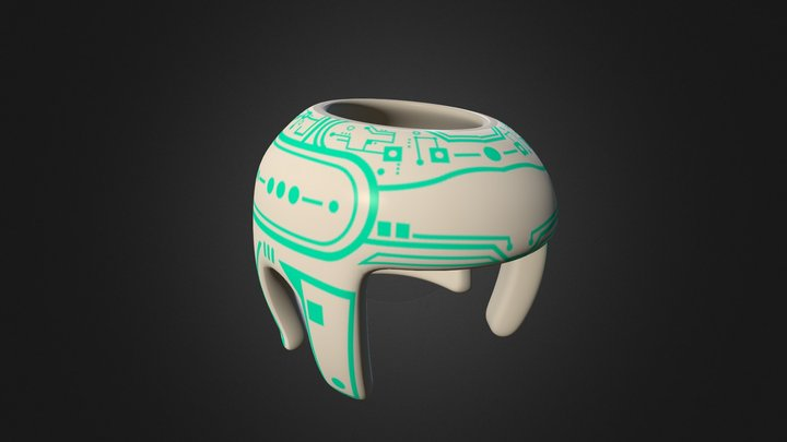 Tron Helmet 3D Model