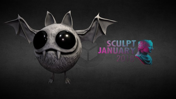 SculptJanuary18 - Day 6: Stylised Monster 3D Model